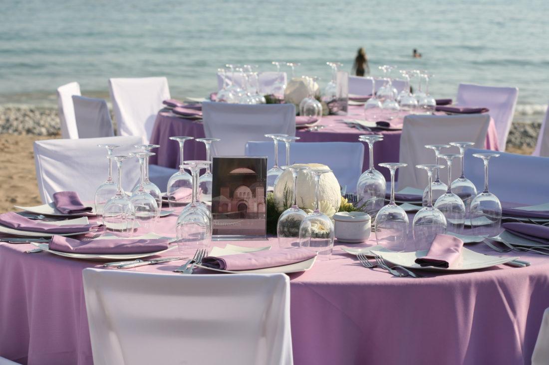 Mesas boda en playa