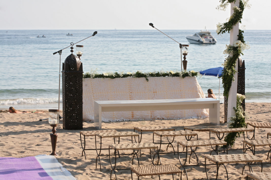 Wedding, beach, Cala Jondal